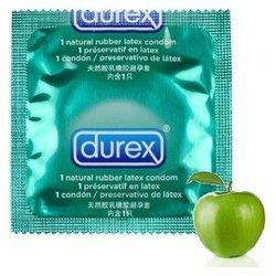 Prezerwatywa Durex - Pleasurefruits smak jabłkowy