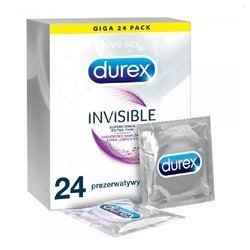 Prezerwatywy Durex - Invisible Extra Thin 24 szt.